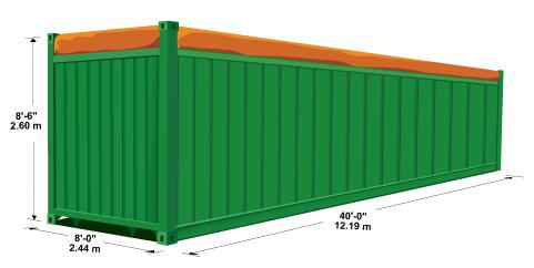 40' Open Top Steel Container - 42 U1